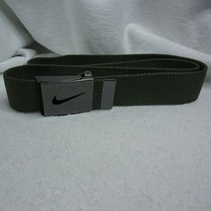 Nike Golf Moss Khaki Green Web Belt